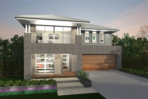Floor Plans For Narrow Blocks by Augusta Two Storey House Design Canberra Region
