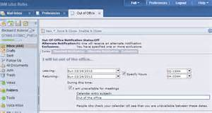 Lotus Notes Auto Reply Lotus Notes 8 5 User Help
