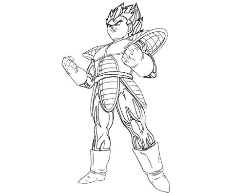 vegeta free coloring pages