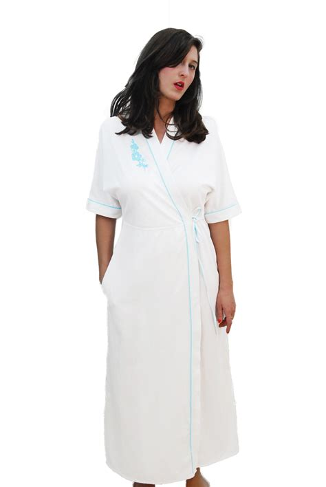 white comfortable vintage robe for 1970s