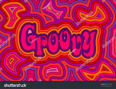 60s design jpg 60s groovy retro psychedelic design stock illustration