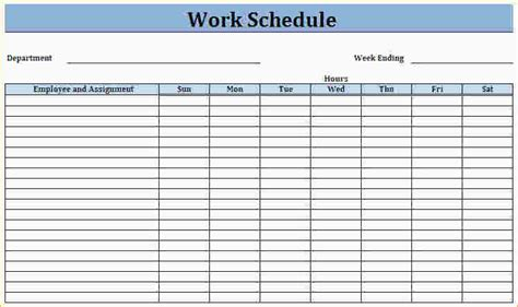 Printable Work Schedule Template 3 printable work schedule ganttchart template