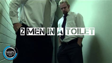 mens bathroom spy two men in a toilet 2009 dir tobias crilly maps film