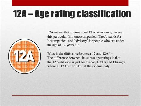 Or Age Rating Presentation On Age In