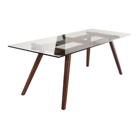 Walnut Wood Dining Table Stockholm Dining Table Modern Furniture Brickell Collection