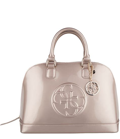 Tas Guess Sale 5 cool shine dome satchel chagne guess the green bag