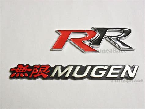 Emblem Mugen Japan Merah Chrome honda mugen rr emblem logo badge sticker civic accord si sir jdm new ebay