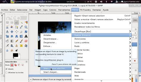 tutorial gimp resynthesizer quitar objetos a una imagen con gimp taringa