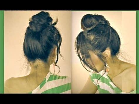 hairstyles for school diy cute mustache hair bun for short medium long hair