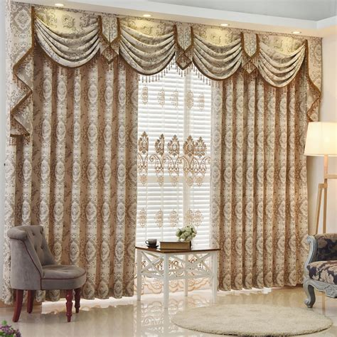 living room valance new arrival european luxury curtain bay window jacquard beautiful valance curtains cortina for