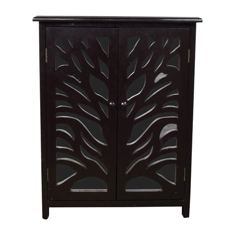 black wood storage 82 off small black wood and mirrored chest storage
