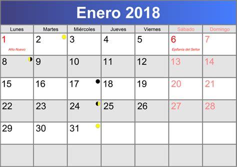 Calendario 2018 Enero Calendario Enero 2018 Imprimible Pdf Abc Calendario Es