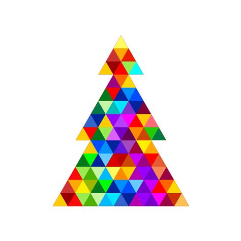 triangle christmas tree free stock photo public domain