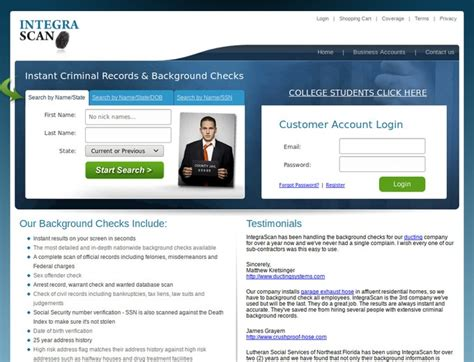 Integrascan Search Integrascan Search Discounts Integrascan