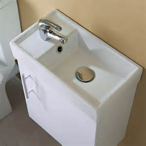 compact small vanity units basin sink storage bathroom