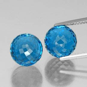 Blue Safir 9 85ct 13 9 carat swiss blue topaz gems from brazil