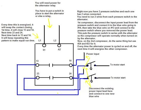 wiring diagram compressor wiring diagram single phase
