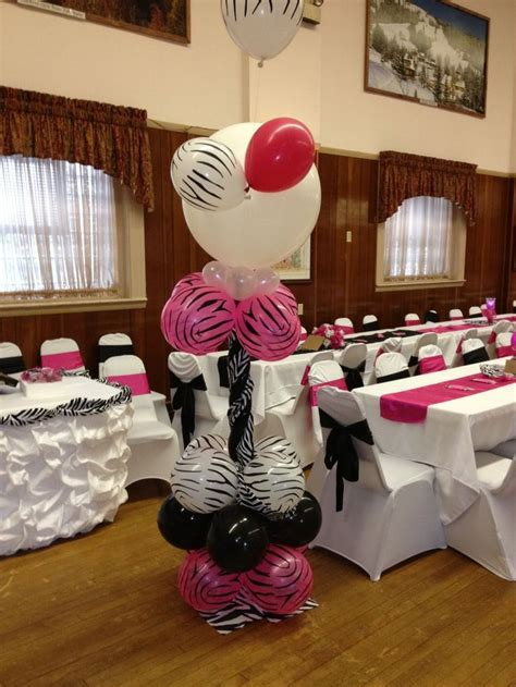hot pink themes quinceanera zebra hot pink theme decorations