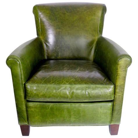 green club chair antique distressed emerald green leather club chair