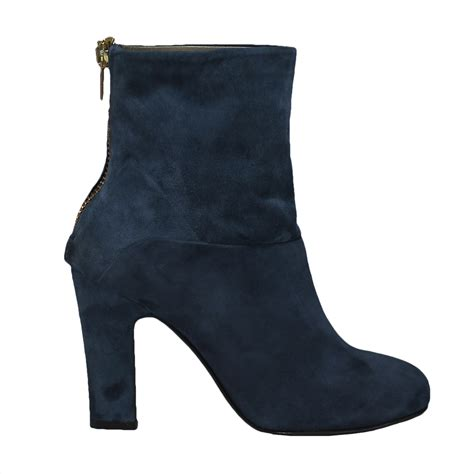 blue suede ankle boot aversashoes