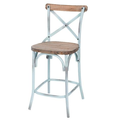 Blue Rustic Bar Stools by Counter Stool Rustic Iron Pine Wood Antique Blue