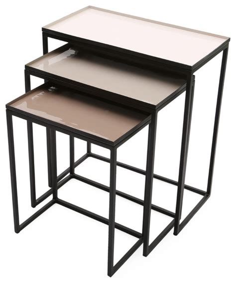 rectangular nesting tables graywolf with removable tray