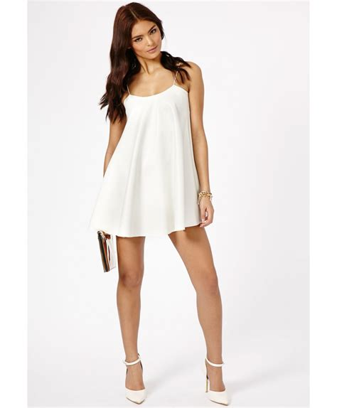 leather swing dress missguided nimesa faux leather strappy swing dress in