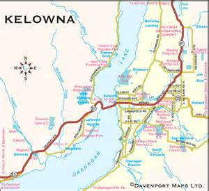 columbia maps city of kelowna map thompson