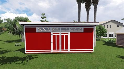 8 X 24 Shed by 8x24 Modern Shed Plan
