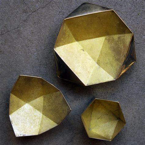 Origami Bowls - brass origami bowls from task garmentory