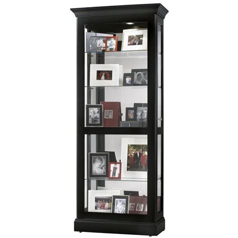 Black Curio Cabinet howard miller berends curio cabinet in black satin 680477