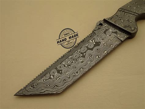 Handmade Damascus Steel Knives - damascus tracker knife custom handmade damascus steel