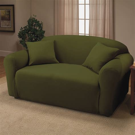 Green Sofa Covers Decor Hunter Green Jersey T Cushion Sofa Green Sofa Slipcover