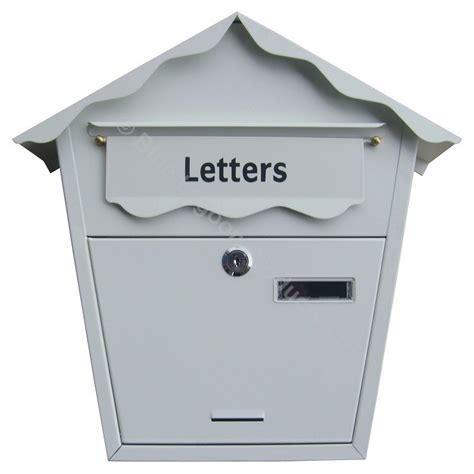 Weatherproof Letter Boxes Black White Outdoor Post Box Mail Lock Lockable Letter Wall Mounted Steel Ebay