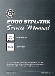 service and repair manuals 2008 chevrolet colorado instrument cluster 2008 chevrolet colorado gmc canyon factory service manual