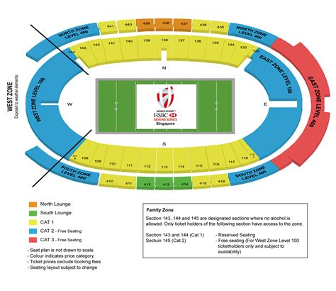 singapore national stadium seating plan 4 hotel and ticket package singapore sevens 2016