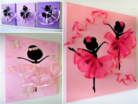 Balerina Canvas by Tutu Ballerina Canvas Wall