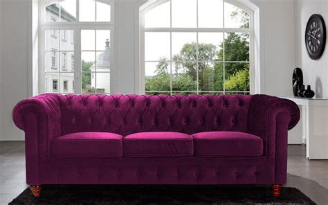 chesterfield collection sofa features tufted buttons