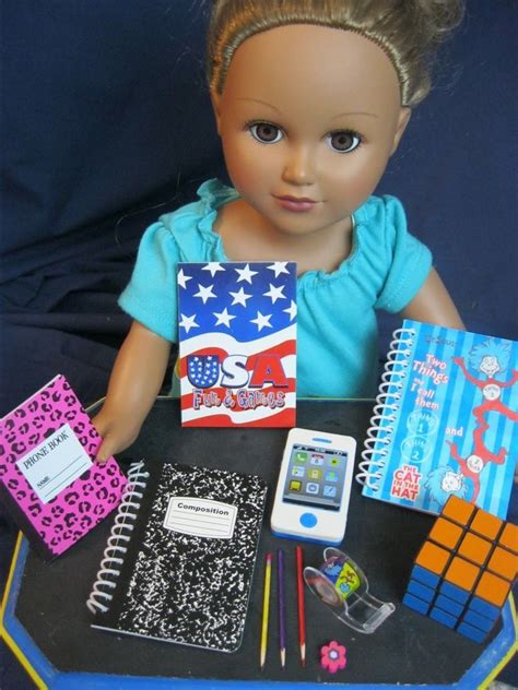 18 inch doll desk set 18 inch doll accessories supplies desk set games