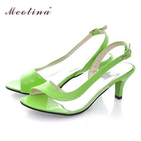 Sneaker Wedges Yellow Trendy Elegan meotina shoes sandals summer sandals transparent neon low heels designer shoes high