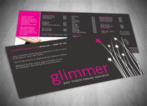 hair and makeup jimboomba dl flyer design and printing gold coast and tweed heads