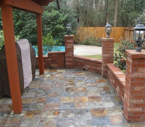 Backyard Tiles Ideas Outdoor Tile For Patio Slate Home Ideas Pinterest