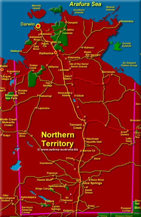 Commitment Letter Northern Territory Australia Map With Cities