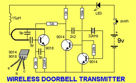 wireless doorbell schematic we are going to make a wireless doorbell project what are