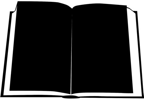 Black Book Search Open Book Silhouette Free Vector Silhouettes