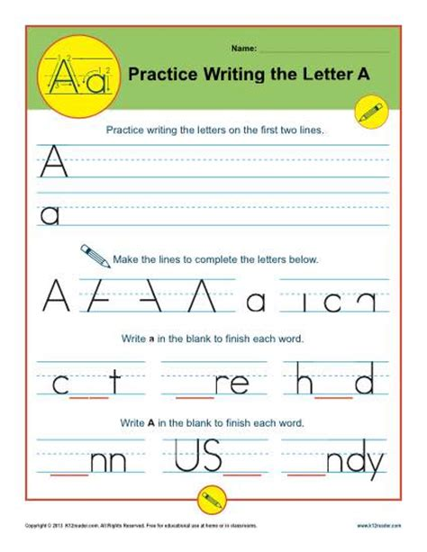 Common Writing Worksheets by Common Worksheets 187 Practice Writing The Letter A