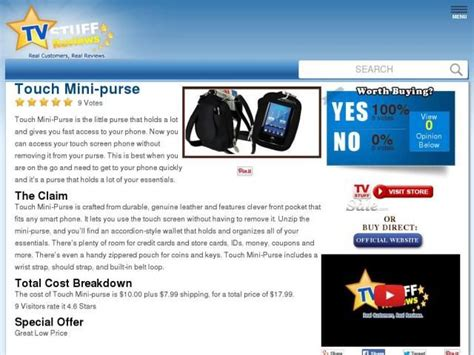 Touch Purse As Seen Tv Diskon touch mini purse reviews to be true
