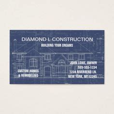 Construction Company Message For Business Cards