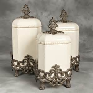 italian style kitchen canisters provencial canister set w metal base gg collection