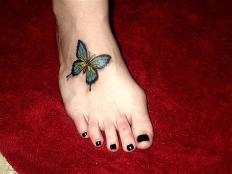 tattoos feet designs butterfly tattoos on foot meaning pictures designs